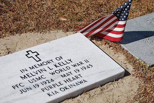Melvin Kelly Memorial Marker