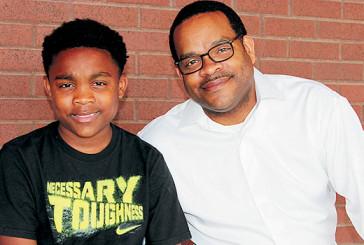 Breonus Mitchell and his son, B.J.