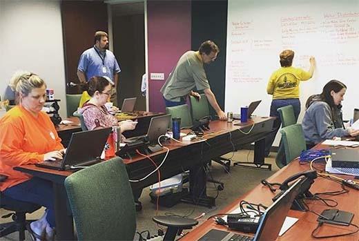 SCBC staffers help coordinate disaster relief efforts. (Wayne Terry/Instagram)